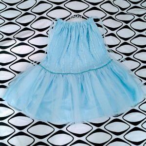 Girls Tutu & Tiara Set Blue 6 - 6X Handmade